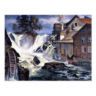 Ronneby Wasserfall bei Blekinge, Schweden Postkarte