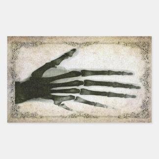 Röntgenstrahl-Hand mit Extrafinger-Aufkleber Rechteckiger Aufkleber