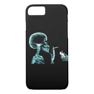 RÖNTGENSTRAHL Skeleton rauchende Zigarette iPhone 8/7 Hülle