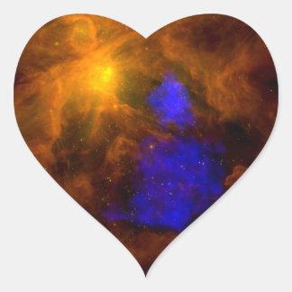 Röntgenstrahl Weihnachtsmann in Orion Herz-Aufkleber