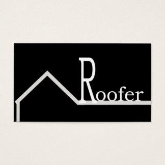 Roofer-Visitenkarte-Schwarzes Visitenkarte