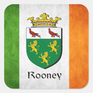 Rooney Iren-Flagge Quadratischer Aufkleber