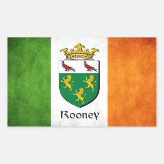 Rooney Iren-Flagge Rechteckiger Aufkleber
