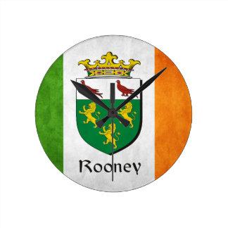 Rooney Iren-Flagge Runde Wanduhr