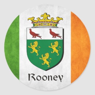 Rooney Iren-Flagge Runder Aufkleber