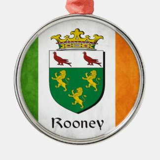 Rooney Iren-Flagge Silbernes Ornament