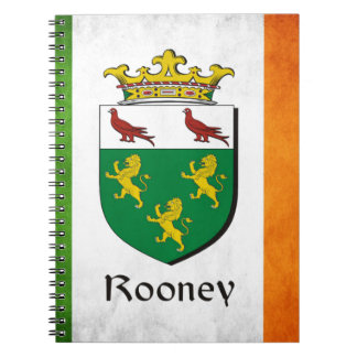 Rooney Iren-Flagge Spiral Notizblock