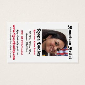 Roopa Dudley Künstler-Karte Visitenkarte