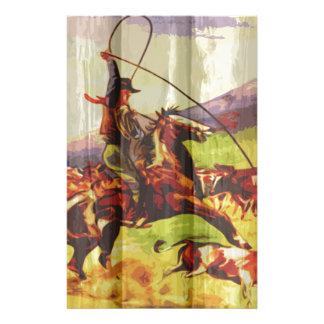 Rope sie Cowboy Briefpapier
