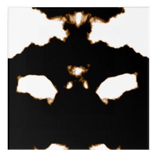 Rorschach Test einer Tinten-Fleck-Karte auf Weiß Acryldruck