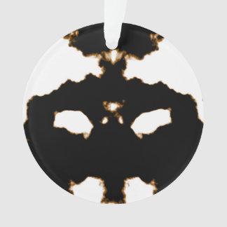 Rorschach Test einer Tinten-Fleck-Karte auf Weiß Ornament