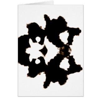 Rorschach Test einer Tinten-Fleck-Karte Karte