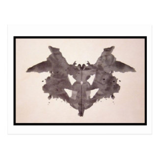 Rorschach Tintenkleks 1,0 Postkarte
