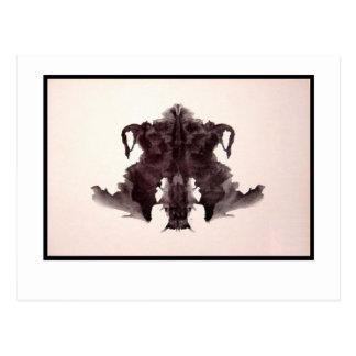 Rorschach Tintenkleks 4,0 Postkarte