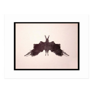 Rorschach Tintenkleks 5,0 Postkarte