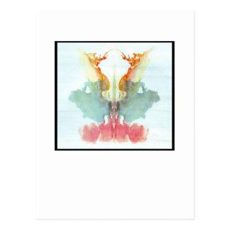 Rorschach Tintenkleks 9,0 Postkarte
