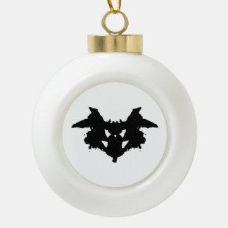 Rorschach Tintenkleks Keramik Kugel-Ornament