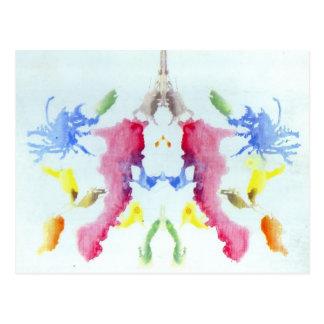 Rorschach Tintenkleks-Test Postkarte