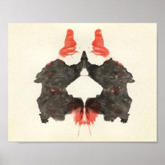Rorschach Tintenkleks-Test-Spaß-Kunst Poster