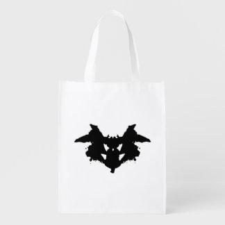 Rorschach Tintenkleks Wiederverwendbare Einkaufstasche
