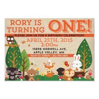 Rory erster Geburtstag laden ein 8,9 X 12,7 Cm Einladungskarte