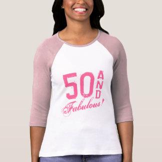 Rosa 50 und fabelhaftes! Geburtstagst-shirt für T-Shirt