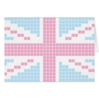 Rosa 8-Bitflagge pixel-Gewerkschafts-Jack-Briten Karte