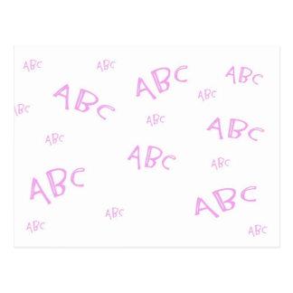 Rosa ABC ` s Postkarte