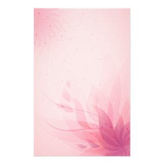 Rosa abstrakte Blumen Briefpapier