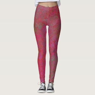 rosa abstrakte Gamaschen Leggings