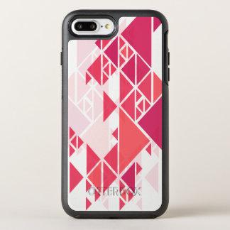 Rosa abstrakter geometrischer Telefon-Kasten des OtterBox Symmetry iPhone 8 Plus/7 Plus Hülle