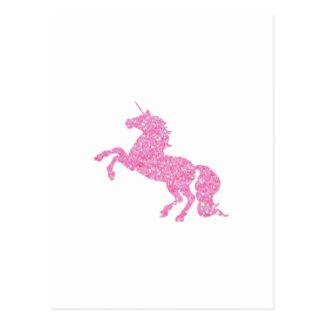 Rosa abstrakter Glitter-EffektUnicorn Postkarte