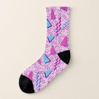 Rosa abstrakter Memphis-Entwurf Socken
