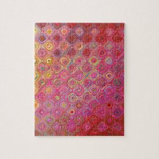 Rosa abstrakter Strudel-Muster-Entwurf Puzzle