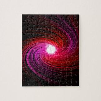 Rosa abstrakter Strudel Puzzle