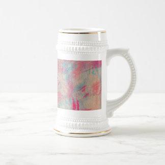 Rosa abstrakter Watercolor Bierglas