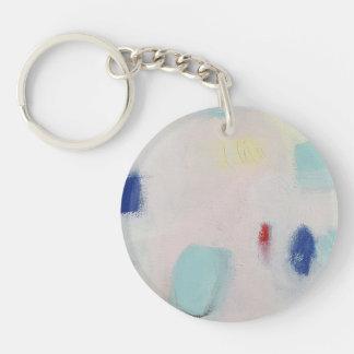 Rosa abstraktes keychain schlüsselanhänger