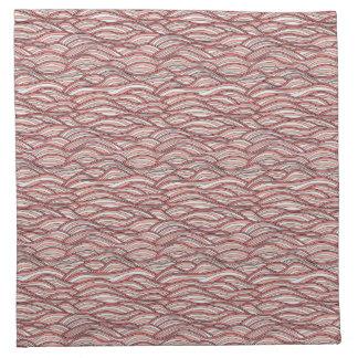 Rosa abstraktes Wellenmuster. Seebeschaffenheit Stoffserviette