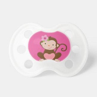 Rosa Affe-Mädchen-Baby-Geschenk BooginHead® Schnuller