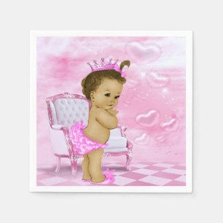 Rosa Afroamerikaner-Babyparty Papierserviette