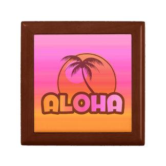 Rosa-Aloha Palme Geschenkbox