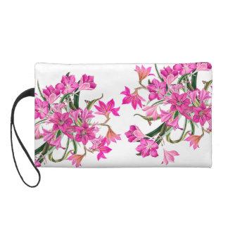 Rosa Amarylis Blumen-Vintage Schmetterlings-mit Wristlet