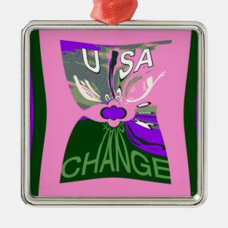 Rosa Änderung Hillary USA sind wir zusammen Silbernes Ornament
