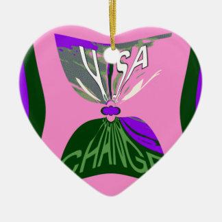Rosa Änderung USA-Musterentwurfskunst Keramik Ornament