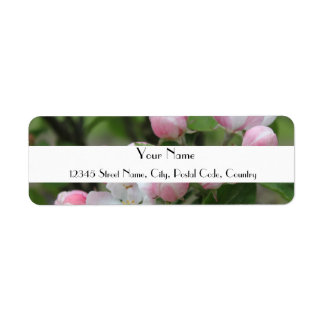 rosa Apfel-Blumen-Adressen-Etikett