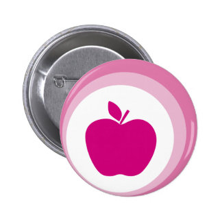 rosa Apfel Anstecknadelbutton