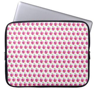 Rosa Apfel-Muster-Laptop-Hülse 15 Zoll Computer Sleeve Schutzhülle