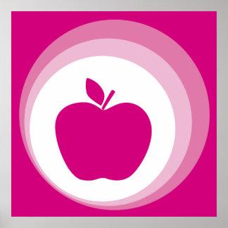 rosa Apfel Plakate