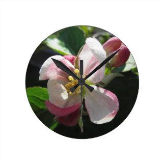 Rosa Apfelblüten Uhr