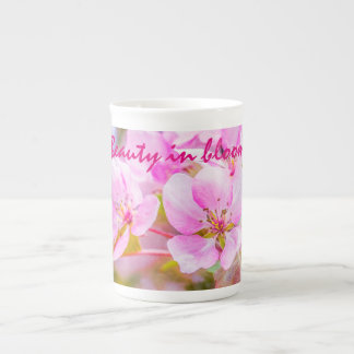 Rosa Apple blühen Porzellantasse